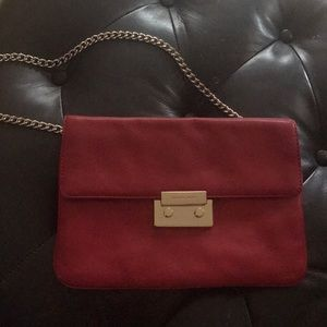 Micheal kors clutch red leather ♥️